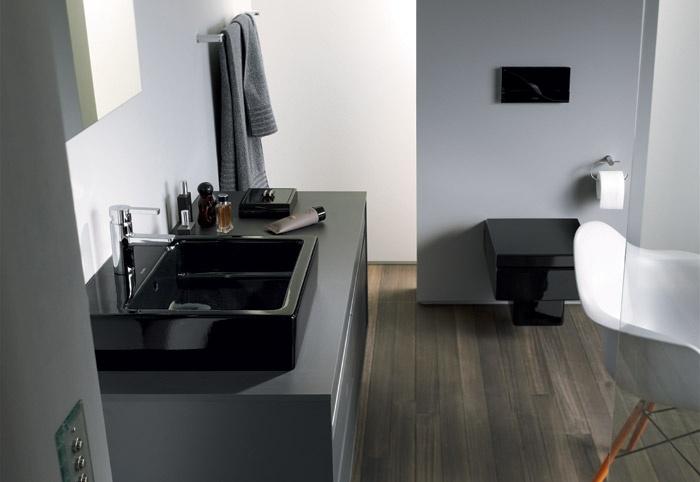 Il lavabo vero nero di duravit design mobili bagno